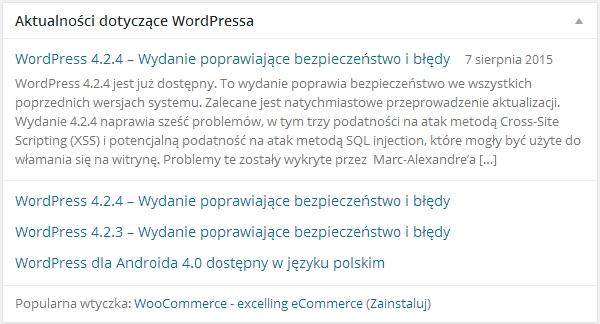 Aktualności dotyczące WordPressa